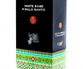 Sahumerios Massala Tribal Soul White Sage+Palo Santo 15g (Caja X 12 U)
